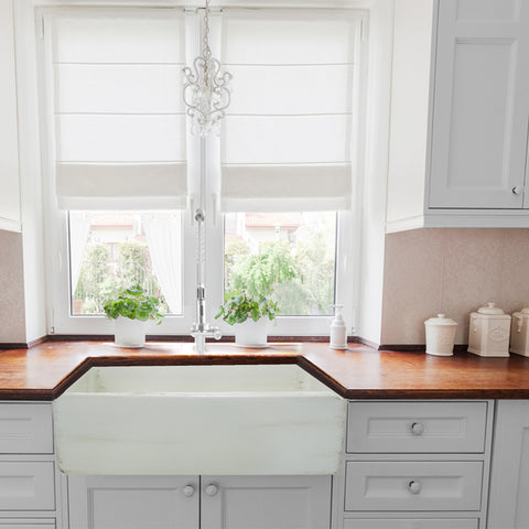 "Nantucket Sinks Vineyard 30"" Fireclay Farmhouse Sink, Pale Yellow, FCFS3020S-ShabbyStraw"