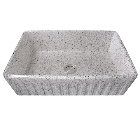 "Nantucket Sinks Vineyard 33"" Fireclay Farmhouse Sink, Various neutrals, FCFS3320S-PietraSarda"