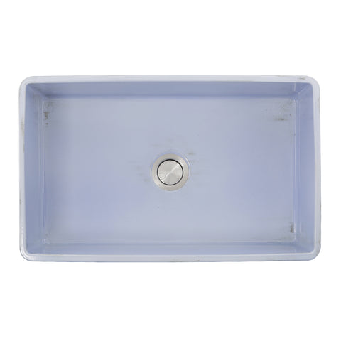 "Nantucket Sinks Vineyard 33"" Fireclay Farmhouse Sink, Light Blue, FCFS3320S-ShabbySugar"