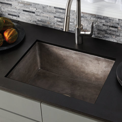 "Native Trails 24"" Nativestone Concrete Farmhouse Sink, Slate, NSK2418-S"