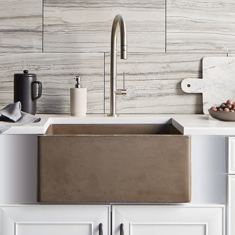 "Native Trails 24"" Nativestone Concrete Farmhouse Sink, Earth, NSK2418-E"