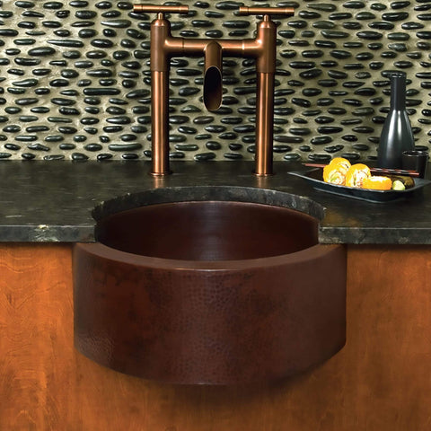 "Native Trails Fiesta 19"" Copper Farmhouse Sink, Antique Copper, CPS214"