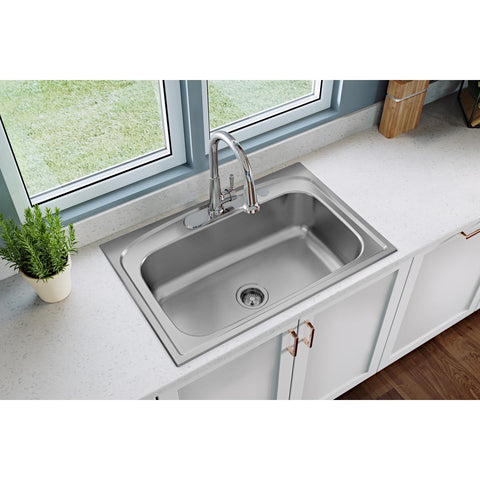 Elkay LK6000CR Everyday Single Hole Deck Mount Kitchen Faucet with Pull-down Spray Forward Only Lever Handle Chrome