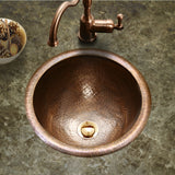 "Houzer 17"" Copper Topmount Bathroom Sink, HW-AUG1RS - The Sink Boutique"