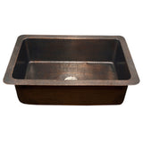 "Houzer 32"" Copper Undermount Large Single Bowl Kitchen Sink, HW-CHA11"