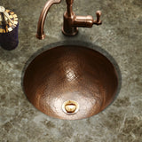 "Houzer 15"" Copper Flat Lip Bathroom Sink, HW-CLA1RF - The Sink Boutique"