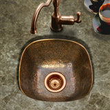 "Houzer 18"" Copper Flat Lip Hammerwerks Bar/Prep Sink, HW-LAG1BF - The Sink Boutique"