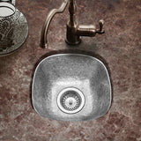 "Houzer 13"" Copper Flat Lip Hammerwerks Bar/Prep Sink, Pewter, HW-SCH2BF - The Sink Boutique"