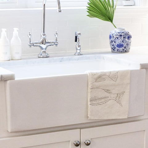 "Nantucket Sinks Cape 30"" Fireclay Farmhouse Sink, White, Hyannis-30"