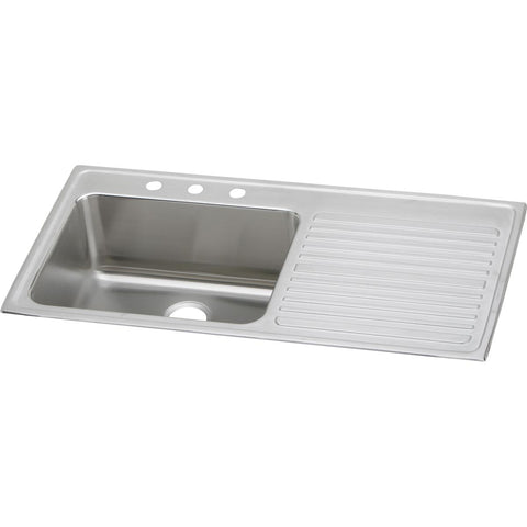 "Elkay Lustertone Classic 43"" Stainless Steel Kitchen Sink, Lustrous Satin, ILGR4322L3"
