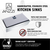 "ANZZI Elysian 32"" Stainless Steel Single Bowl Farmhouse Apron Sink in Brushed Satin K-AZ3320-1AS - The Sink Boutique"