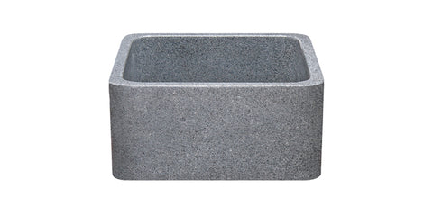 "Mercury Granite 17"" Stone Farmhouse Sink, Gray, KF171710-M"