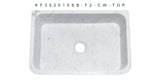 "Carrara Marble 30"" Stone Farmhouse Sink, White, KF302010SB-F2-CW Top View"