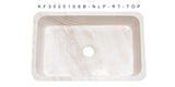 "Roma Travertine 30"" Stone Farmhouse Sink, Beige, KF302010SB-NLP-RT"