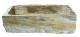 Allstone Group Beige, Taupe Petrified Wood Farmhouse Kitchen Sink KF302110SB-PEWD-3 Back