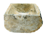 Allstone Group Beige, Taupe Petrified Wood Farmhouse Kitchen Sink KF302110SB-PEWD-3 Side 1