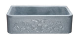 "Mercury Granite 33"" Stone Farmhouse Sink, Gray, KF332010SB-F2-M"