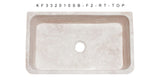 "Roma Travertine 33"" Stone Farmhouse Sink, Handcrafted - The Sink Boutique"