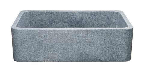 "Mercury Granite 33"" Stone Farmhouse Sink, Gray, KF332010SB-NLP-M"