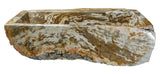 Allstone Group Brown, Cream, Red Orange Petrified Wood Farmhouse Kitchen Sink KF362210SB-PEWD-1 Back