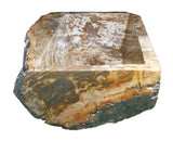 Allstone Group Brown, Cream, Red Orange Petrified Wood Farmhouse Kitchen Sink KF362210SB-PEWD-1 Side 2