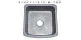 "Mercury Granite 17"" Stone Farmhouse Sink, Gray, KFCF171810-M"