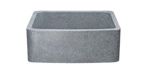 "Mercury Granite 24"" Stone Farmhouse Sink, Gray, KFCF242110-M"