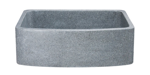"Mercury Granite 30"" Stone Farmhouse Sink, Gray, KFCF302210SB-NLP-M"