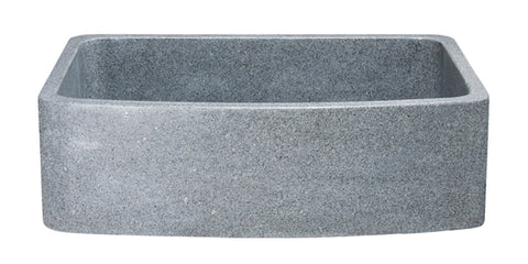 "Mercury Granite 33"" Stone Farmhouse Sink, Gray, KFCF332210SB-NLP-M"