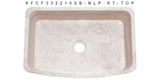 "Roma Travertine 33"" Stone Farmhouse Sink, Beige, KFCF332210SB-NLP-RT"