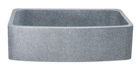"Mercury Granite 36"" Stone Farmhouse Sink, Gray, KFCF362210SB-NLP-M"