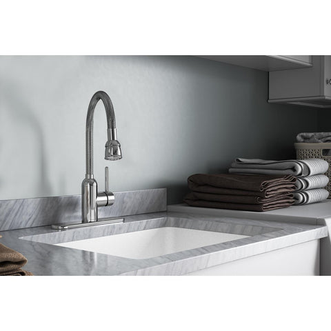 Elkay LK2500CR Pursuit Laundry/Utility Faucet with Flexible Spout Forward Only Lever Handle Chrome