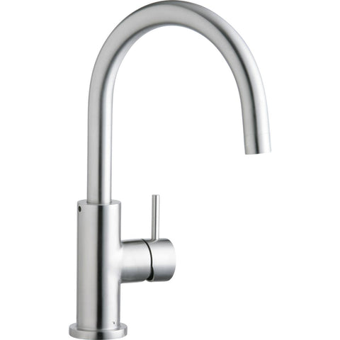 Elkay LK7921SSS Allure Single Hole Kitchen Faucet with Lever Handle Satin Stainless Steel
