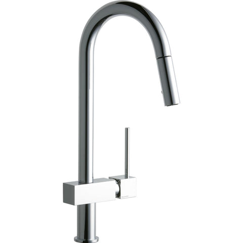 Elkay LKAV1031CR Avado Single Hole Kitchen Faucet with Pull-down Spray and Lever Handle Chrome