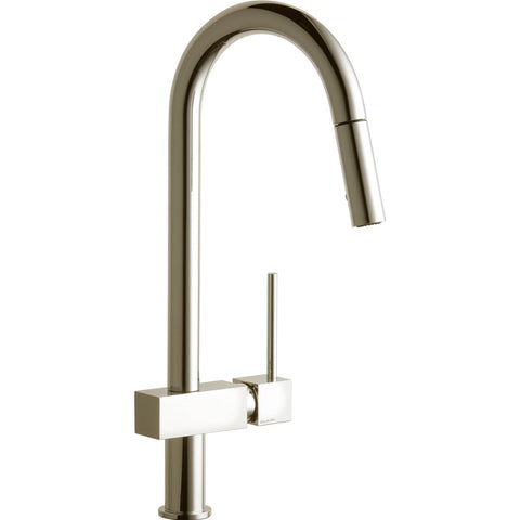 Elkay LKAV1031NK Avado Single Hole Kitchen Faucet with Pull-down Spray and Lever Handle Brushed Nickel