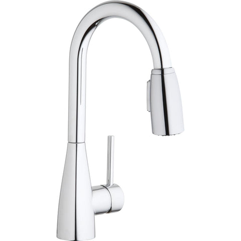 Elkay LKAV4032CR Avado Single Hole Bar Faucet with Pull-down Spray and Forward Only Lever Handle Chrome