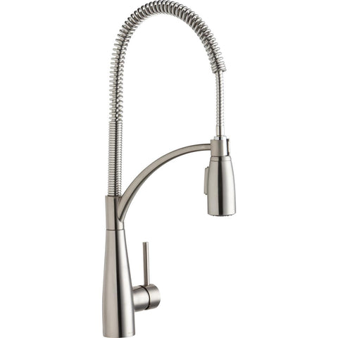 Elkay LKAV4061LS Avado Single Hole Kitchen Faucet with Semi-Professional Spout Forward Only Lever Handle Lustrous Steel