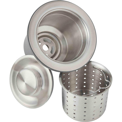 "Elkay LKDD 3-1/2"" Drain Fitting, Deep Strainer Basket and Brass tailpiece"