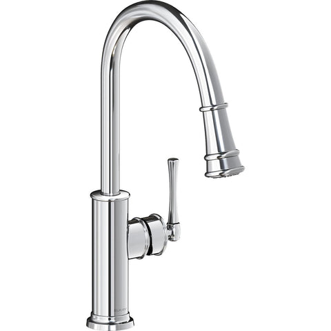 Elkay LKEC2031CR Explore Single Hole Kitchen Faucet with Pull-down Spray and Forward Only Lever Handle Chrome