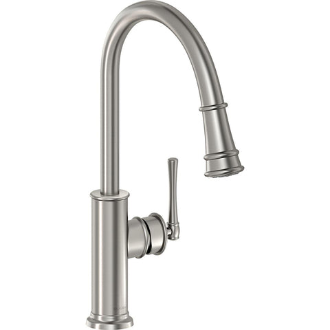 Elkay LKEC2031LS Explore Single Hole Kitchen Faucet with Pull-down Spray and Forward Only Lever Handle Lustrous Steel