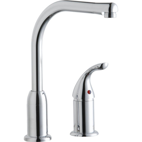 Elkay LKF413945RS Everyday Kitchen Faucet with Remote Lever Handle Restricted Spout Chrome