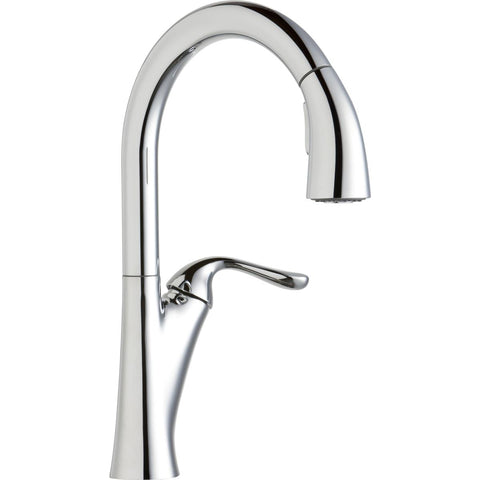 Elkay LKHA4031CR Harmony Single Hole Kitchen Faucet with Pull-down Spray and Forward Only Lever Handle Chrome