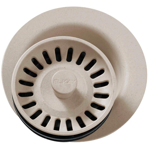 "Elkay LKQD35PT Polymer 3-1/2"" Disposer Flange with Removable Basket Strainer and Rubber Stopper Putty"