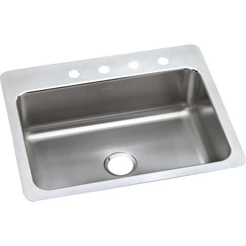 "Elkay Lustertone Classic 27"" Stainless Steel Kitchen Sink, Lustrous Satin, LSR27221"