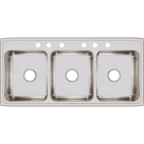 "Elkay Lustertone Classic 46"" Stainless Steel Kitchen Sink, 33/33/33 Triple Bowl, Lustrous Satin, LTR46226"
