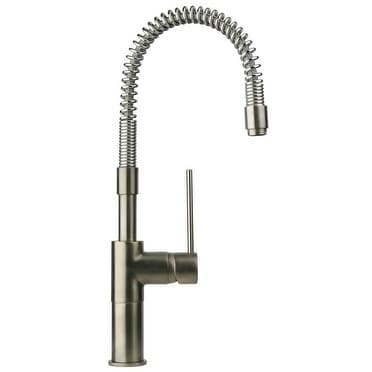 Latoscana Elba Single Handle Pull Out Spray Kitchen Faucet, Brushed Nickel, 78PW557YOSPE - The Sink Boutique