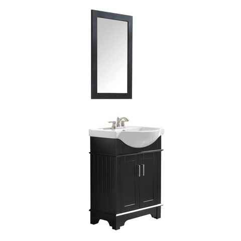 "Montbrun 24"" Bathroom Vanity with White Basin and Mirror - The Sink Boutique"