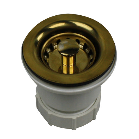 Nantucket Sinks 2.75 inch Junior Duo Bar Sink Drain In Polished Brass NS-403PB