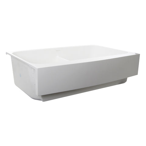 "Nantucket Sinks Glacierstone 31"" Retrofit Farmhouse Sink, White, NS-GSEZA32D"