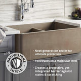 "Native Trails 48"" NativeStone Palomar Vanity Top with Integral Sink in Slate - 8"" Widespread Cutout, NSVNT48-S"